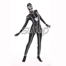 unisex latex catsuit rubber teddies body suit skinny custom SUITOP