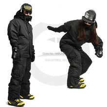 "New Edition ""Southplay"" Winter Waterproof 10,000mm Warming Suit (Jacket + Pants)Sets - Black"