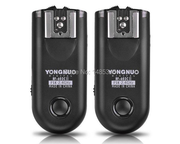 Prix pour Nouveau YONGNUO RF-603 II C3, RF603II RF 603 C II Sans Fil Déclencheur Flash 2 Émetteurs-récepteurs C3 pour Canon 7D 6D 5D Mark II, 5D Mark III, 1Dx