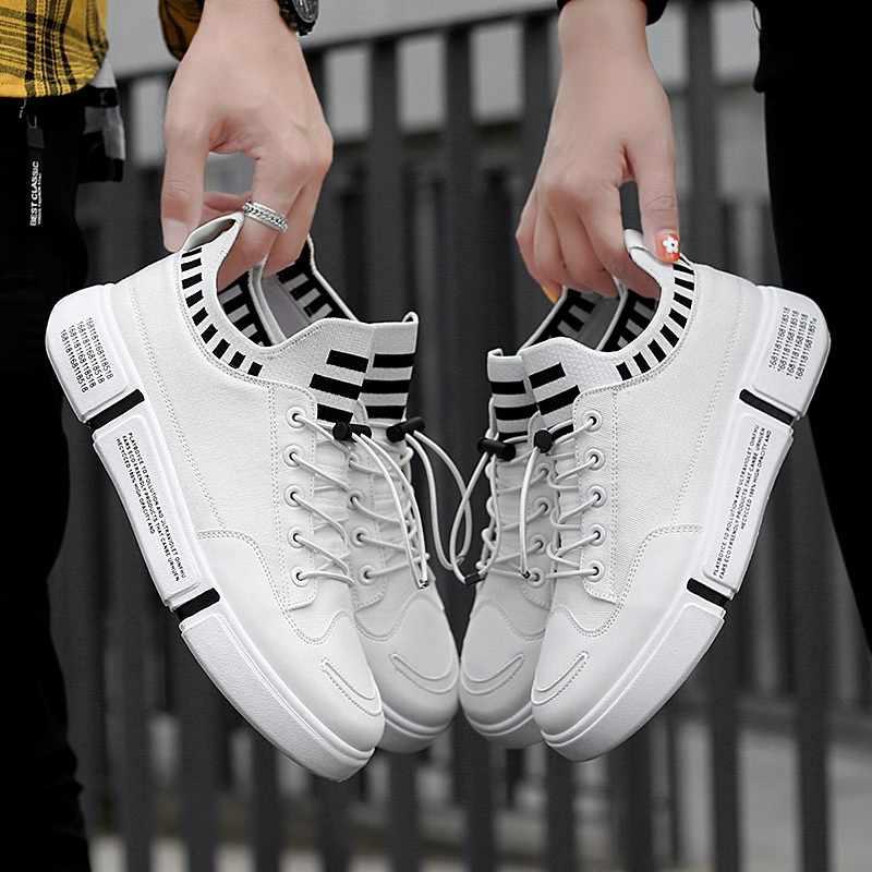 Новинка; мужская повседневная обувь из сетчатого материала; белые легкие удобные дышащие Прогулочные кроссовки; обувь для пары; zapatos hombre