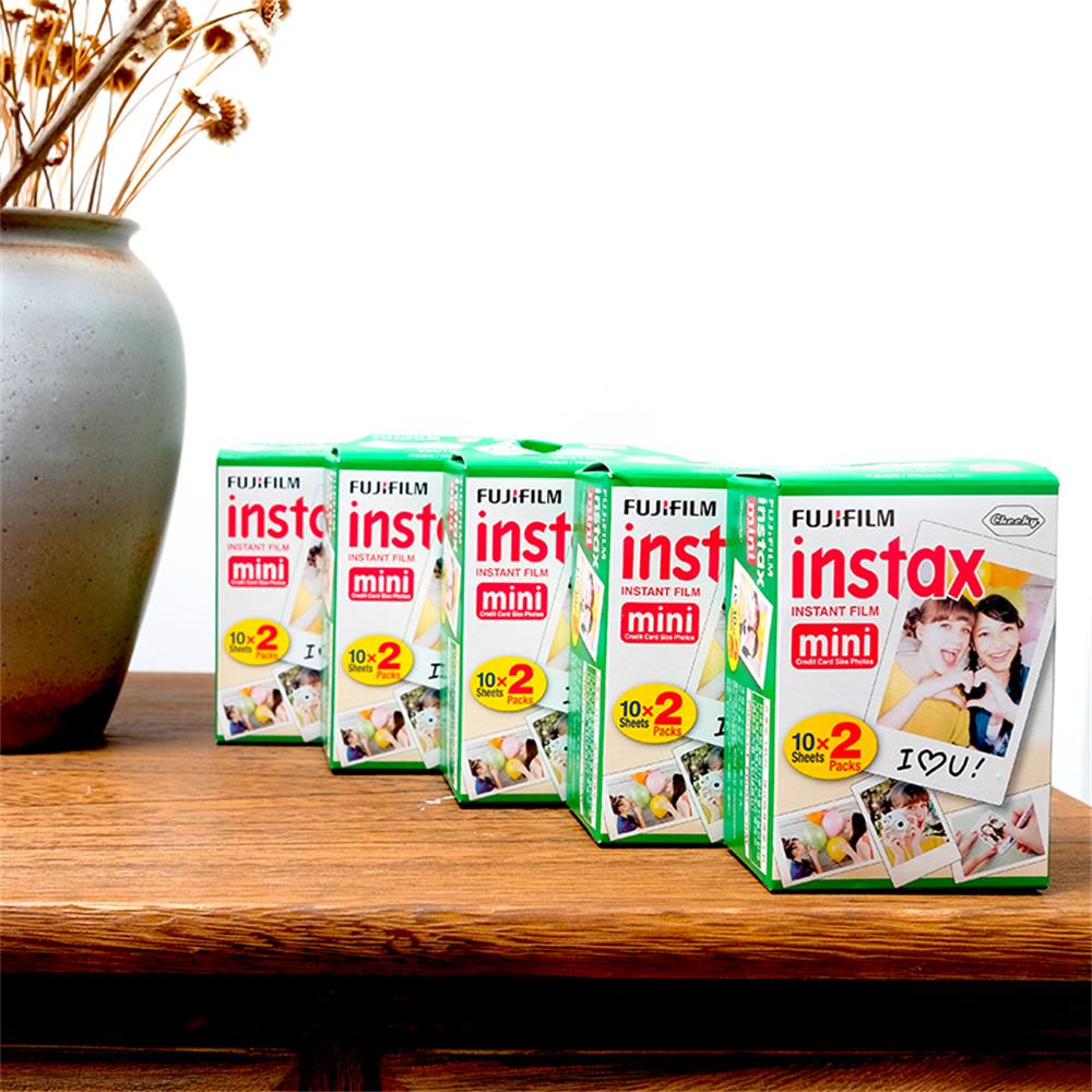 Original 100 feuille Fuji Fujifilm Instax blanc Film instantané papier Photo pour film instantané caméra Mini 9 70 SP-1 SP-2 livraison gratuite