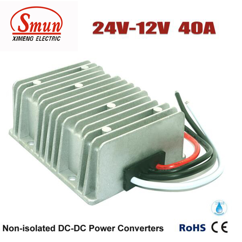 24VDC to 12VDC 40A Step Down DC-DC Converter For Car and Golf Cart golf cart dc converter 72v to 12v step down reducer 0a 20a 20amp ezogo