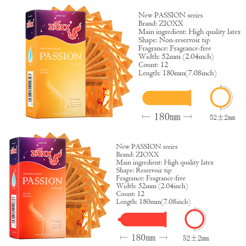 ZIOXX CONDOMS Ultra Thin Condoms Sexy Natural Latex Condones Male Contraception Penis Sleeve delay ejaculation in Condoms from Beauty Health
