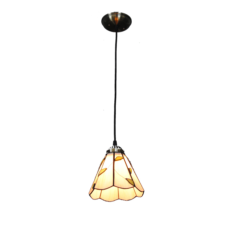European Stained Glass Pendant Lamp Rose Glass Shade Light For Living Room Dining Room Kitchen Suspension Lightings Fixture P733 fumat stained glass pendant lamps european style glass lamp for living room dining room baroque glass art pendant lights led
