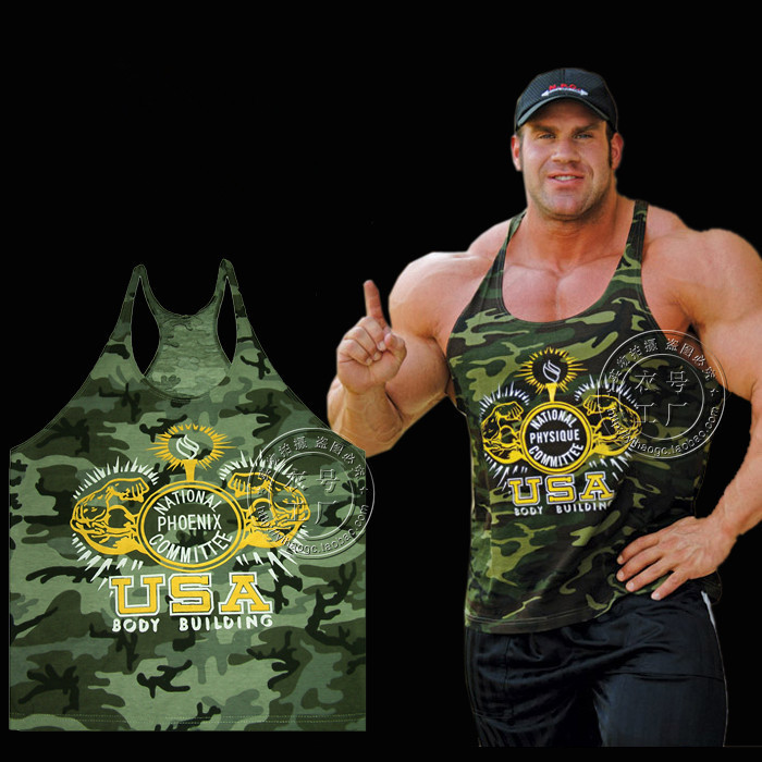 b7d7223a Yan GYM camouflage tank top fitness bodybuilding world of tanks camo tank  top men gym shark golds gym GASP vest men-in Tank Tops from Men's Clothing  on ...