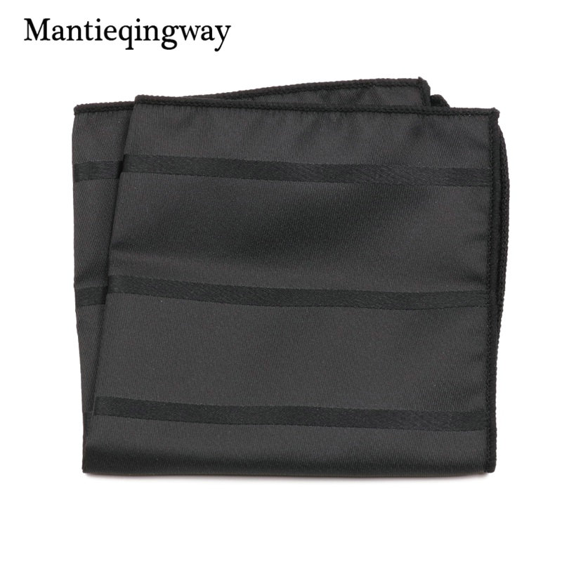 Mantieqingway High Quality Handkerchief Men Polyester Business Pocket Square For Men Wedding Party Handkercheifs Chest Towell