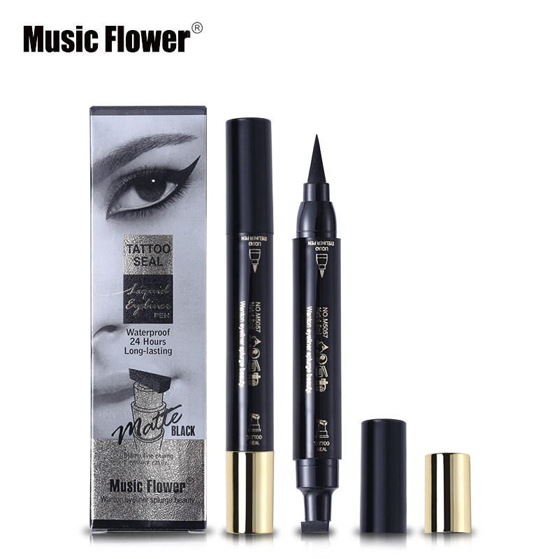 Back To Search Resultsbeauty & Health Music Flower Brand Eyes Makeup Tattoo Seal Liquid Eyeliner Pen Waterproof Matte Black Stamp Wanton Eye Liners 24hr Long-lasting