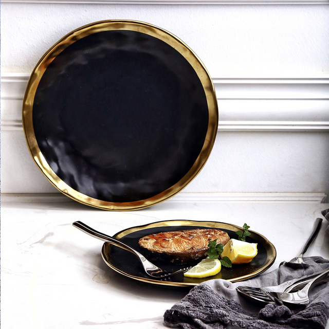Retro European Style Gold Plated Plate