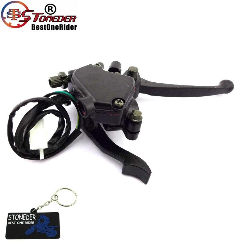WOOSTAR 7//8 Thumb Throttle with Dual Brake Lever Assy for 50cc 90cc 150cc 250cc ATV Quad Roketa Taotao Sunl Kazuma