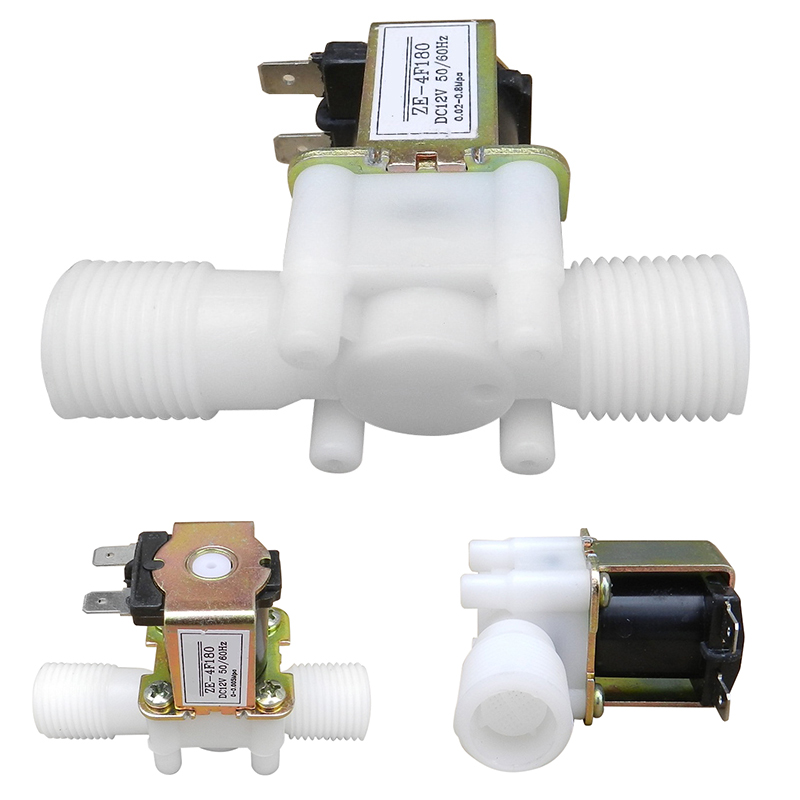 New Electric Solenoid Valve Magnetic DC 12V N/C Water Air Inlet Flow Switch 1/2 For Home Tools