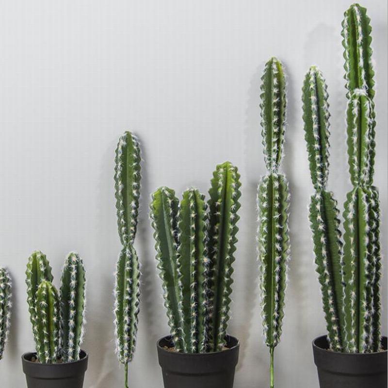 Party Nordic Home Indoor Hotel Desktop Decoration  Artificial Cactus Decoration Pilosocereus Plants Fake Silk Plant Green