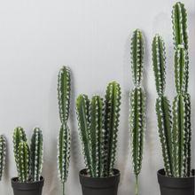 Party Nordic Home Indoor Hotel Desktop Decoration  Artificial Cactus Pilosocereus Plants Fake Silk Plant Green