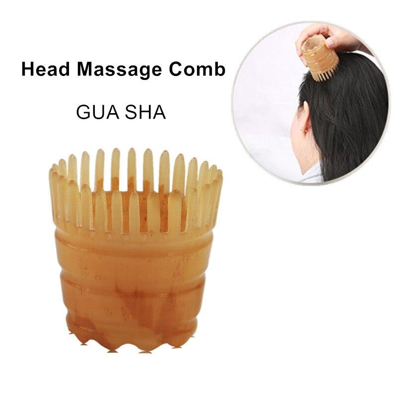 Cofoe Cabeça Cabeça de Massagem Pente Raspagem Gua Sha Guasha Board Perda Anti-cabelo Pente Cabeça Tratamento Meridiano 1 peça