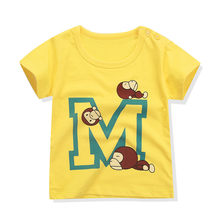 New Boys Clothes Toddler Cotton T Shirt Baby Girls Cartoon Monkey T-Shirts Kids Short Sleeve T-Shirt Children O-Neck Tee Tops(China)