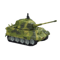 New Mini RC Tank Radio Remote Control 2203 1:72 Scale 4CH Simulation Tanks Car Model Toys for Children Christmas Birthday Gift