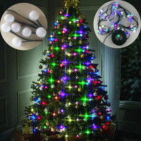 Christmas Tree 64 led lights Ball Handing Ornament New Year Christmas decorations for home outdoor sfere per albero di natale