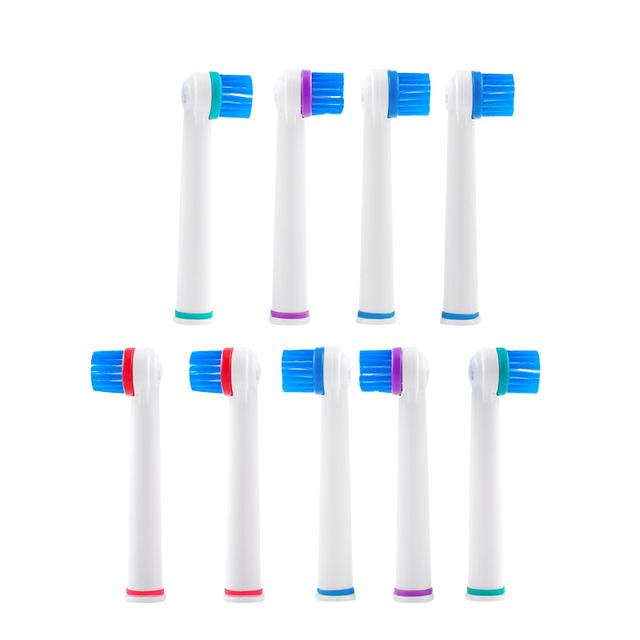 Venta caliente cepillo de dientes eléctrico Recargable cepillo de dientes eléctrico (a la derecha o izquierda) 9 UNIDS cabeza del cepillo de dientes Mejor Oferta