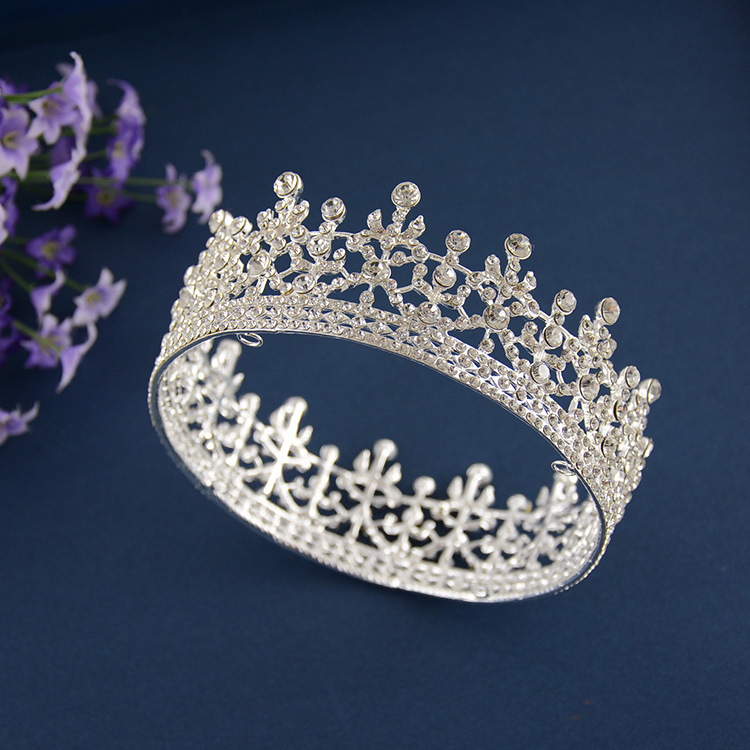 High Quality Princess Large Full Circle Rhinestones Queen Pageant Crown , Prom or Wedding Party Tiara Crown