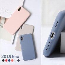 7a865ec8833 Tiene logotipo Original teléfono casos para iPhone 7 7 Plus 6 6 s Plus de silicona  líquida Fundas para iPhone XS Max XR X (10) c.