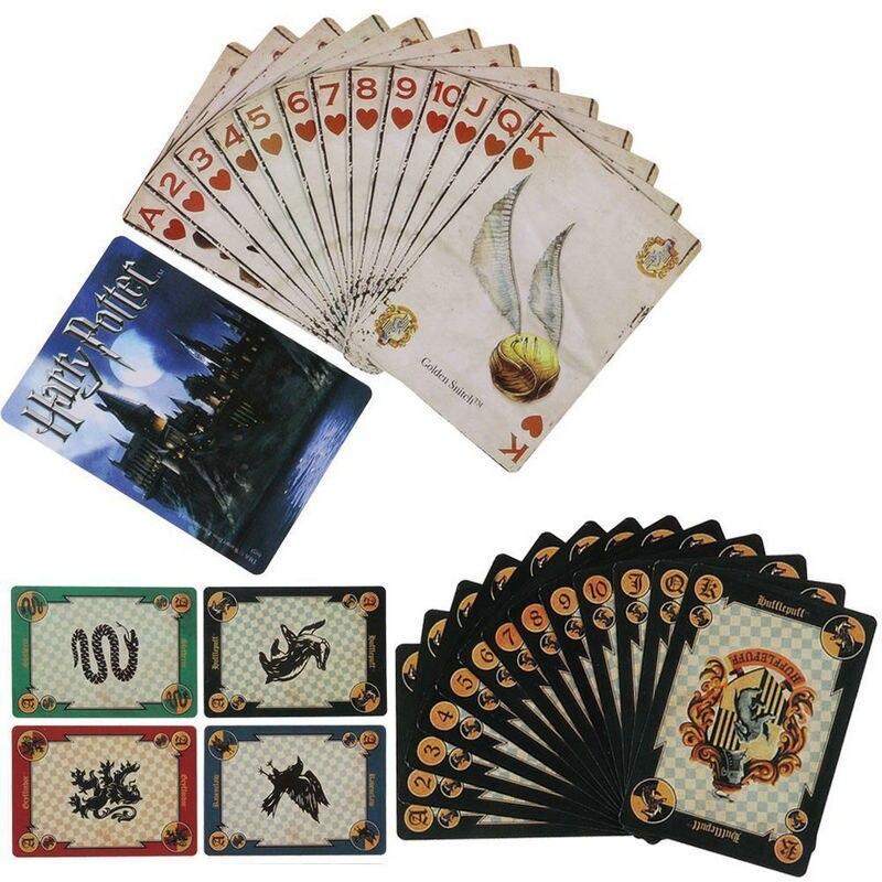 Juego de cartas de Hogwarts casa colección de insignias símbolos ...
