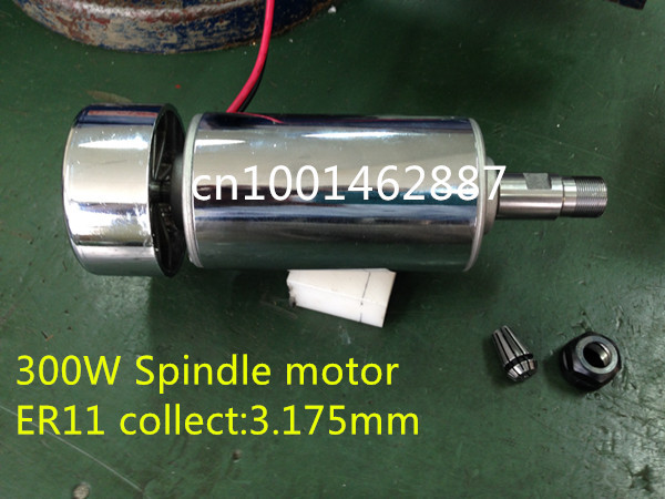 цена на On sale 52mm cnc spindle 300w ER11 chuck DC 12-48v 300W Spindle motor cnc 0.3KW for Engraving Machine free shipping
