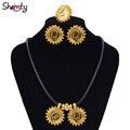 Nueva joyería 24 k chapado en Oro Hipoalergénico Habesha Etíope estilo De La Boda Set Africana/Entre los Dos Mujeres de Moda A30040