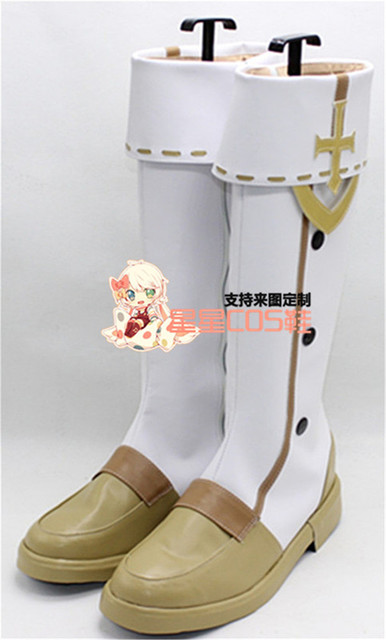 Dragon Nest Adult White Long Halloween Cosplay Shoes Boots X002-in ...