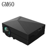 Portable Design GM60 LCD Projector 1000LM 800x480 Pixels 1080P USB HDMI VGA AV Connectivity Built In