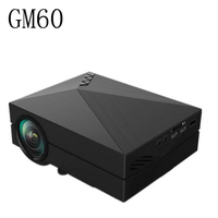 Portable Design GM60 LCD Projector 1000LM 800x480 Pixels 1080P USB HDMI VGA AV Connectivity Built In