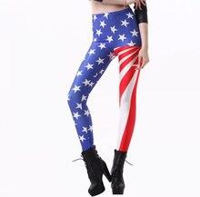 American USA Flag Womens Leggings For Women Printed Leggings Casual Legging Fitness For Women Pants Legging