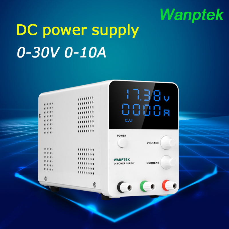 Wanptek 30V 10A DC Power Supply Digital Voltage Regulator Continuous Adjustable Power Supplier Laboratory Switching Power Supply 1200w wanptek kps3040d high precision adjustable display dc power supply 0 30v 0 40a high power switching power supply