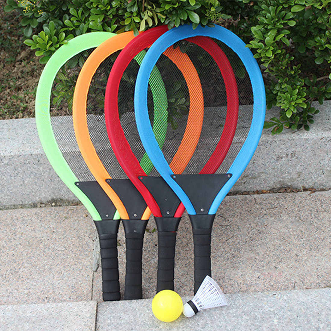 New Arrival 1 Pair Badminton Tennis Racket Set Outdoor Sports Parent-child Sport Educational Toys Baby Sport
