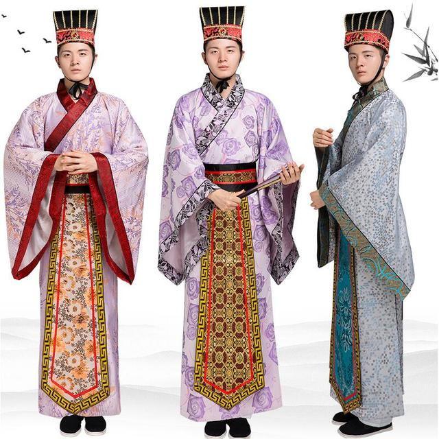 09502bc89 Long Robe for Men Chinese Traditional Costume Male Hanfu Clothing National  Chinese ancient scholar gown TV