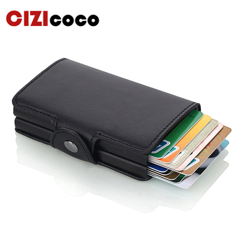 цена на Business Credit Card Holder Men Wallet Unisex Metal Card Holder  Blocking RFID Wallet ID Card Case Aluminium Travel Purse