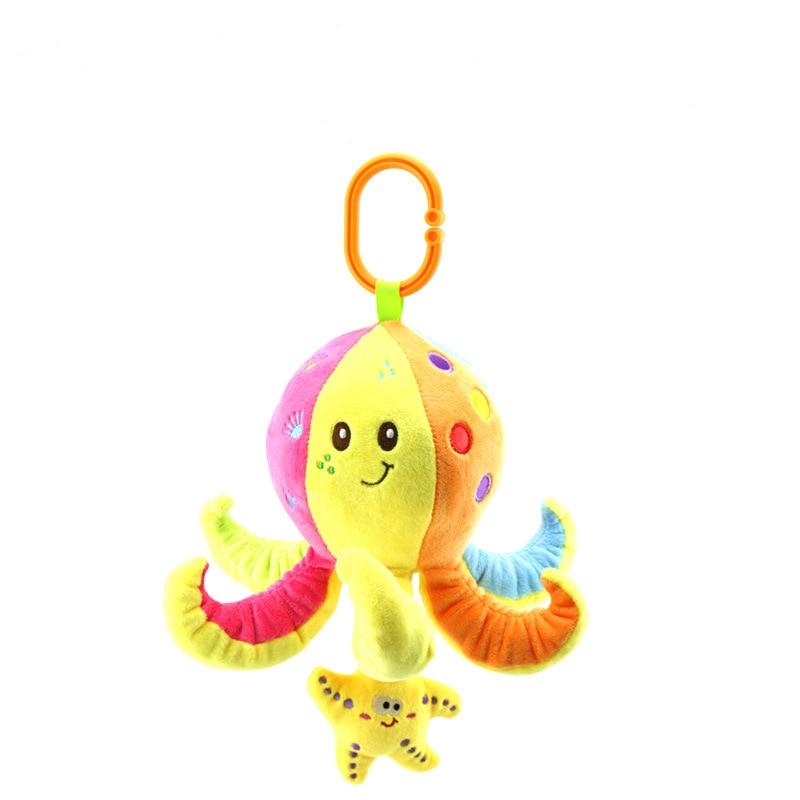Baby Multifunctional Baby Stroller Toys Mobiles Soft Cotton Infant Pram Stroller Animal Plush Toys in Baby Rattles Mobiles from Toys Hobbies