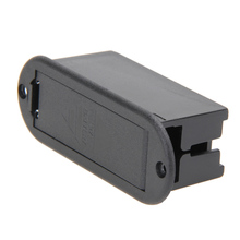 1 PC 9V Battery Storage Cover Box Plastic Case Holder Compartment for Guitar Bass Pickup Black