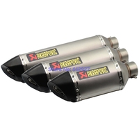 Length 57cm/47cm/37cm Inlet 51mm 61mm Motorcycle Exhaust Muffler Pipe Akrapovic with DB Killer