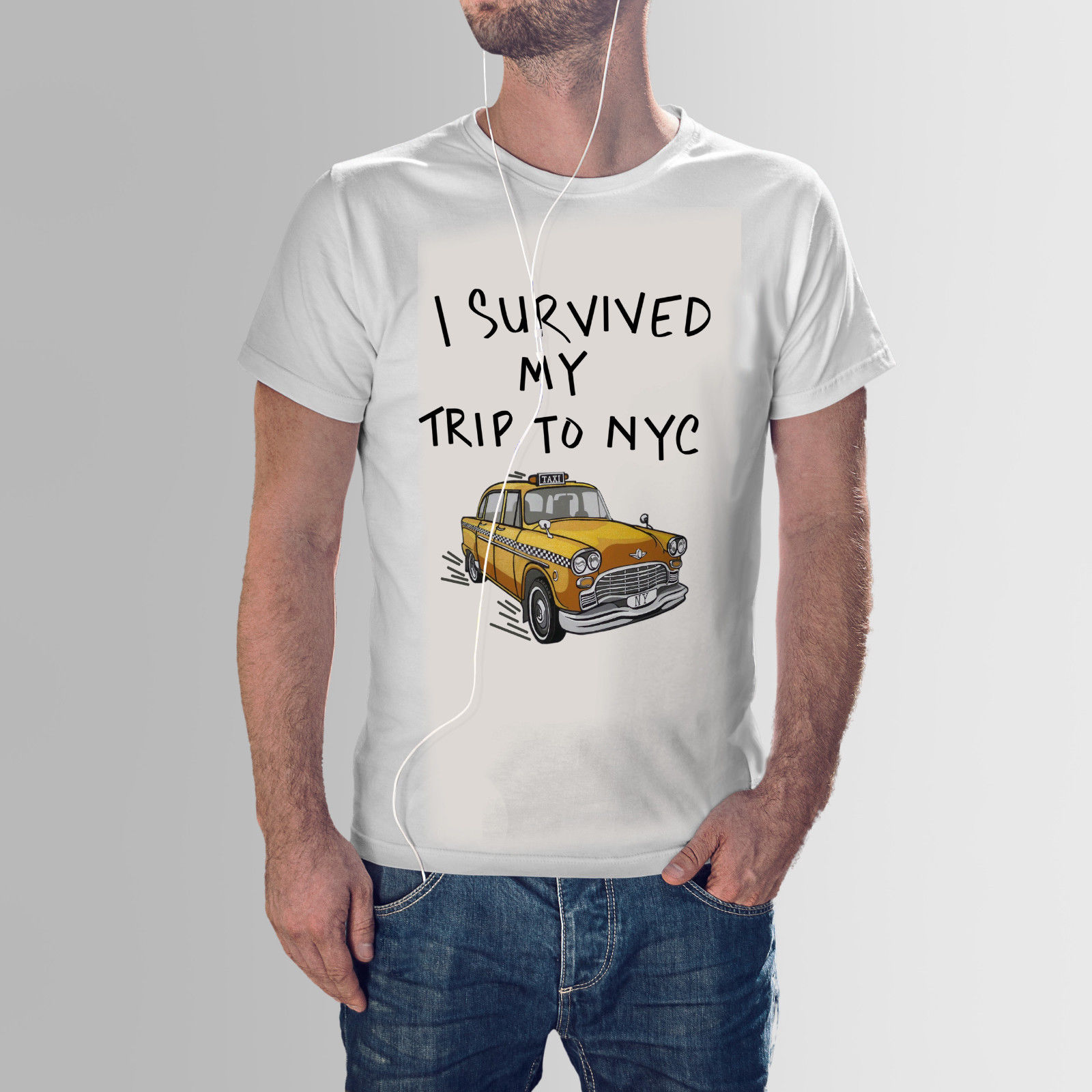 Gildan I Survived My Trip To Nyc T-Shirt, Inspired from movie Spiderman Homecoming