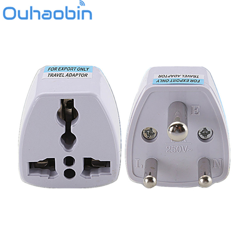 Ouhaobin Universal UK/US/EU/AU to South Africa 3 pin Travel Power Adapter Plug Gift Oct 27 Dropship