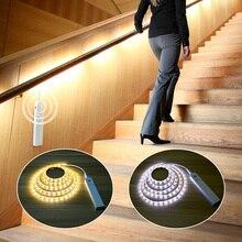 1 M/2 M/3 M DC 5V hareket sensörlü LED gece lambası mutfak aydınlatma dolap dolap yatak odası PIR sensör dedektörü ışık şeridi lambası