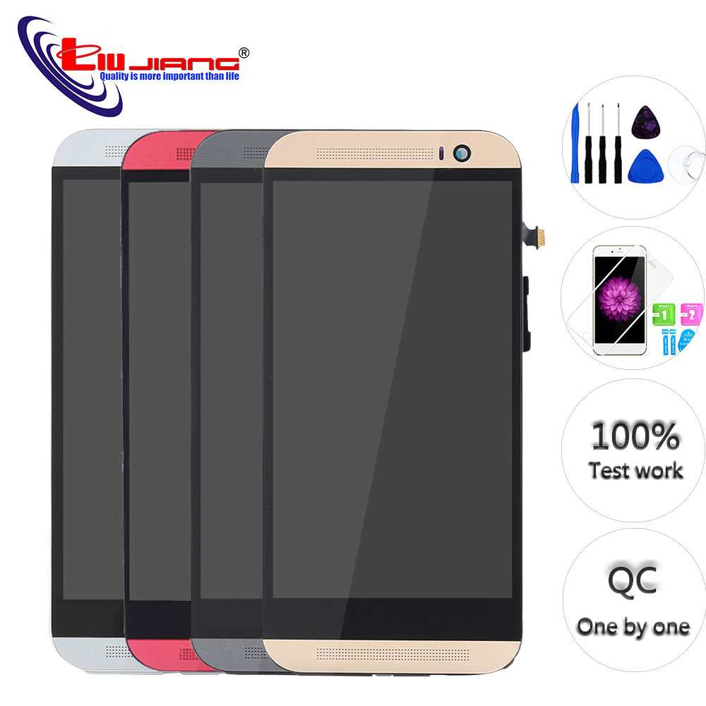 Original LCD For HTC ONE M8 831c Display Touch Screen Digitizer With Frame Assembly Replacement Repair Parts