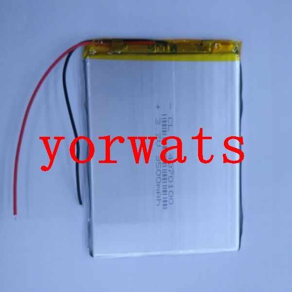 New Hot A Rechargeable Li-ion Cell 3.7V polymer lithium battery <font><b>4070100</b></font> 0470100 3500mah tablet Newman image