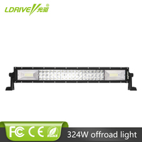 LDRIVE 7D Curved LED Light Bar Aluminum Housing 22 324W LED Light Bar For Offroad Jeep