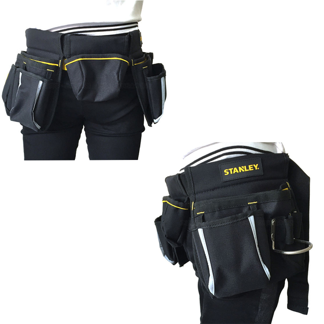 Stanley tool bag waist electrician hip storage carpenters belts and bags contractor construction tool belt pouch pocket combo 4