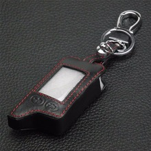 5 Buttons Leather Key Cover Case For Tomahawk TZ9010 TZ9030 LCD Remote Only TZ 9010 Two Way Car Alarm Car-styling