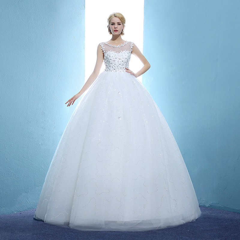 Hot Sale Strapless Sweetange Satin Bridal Dresses Korean Style Sweet  Romantic Lace Princess Wedding Dress Vestido ... 8f545c0686c6
