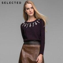 SELECTED новый Женская мода o-образным вырезом, удобные повседневные вязаный свитер дамы пуловер Блузка для девочек 415425030