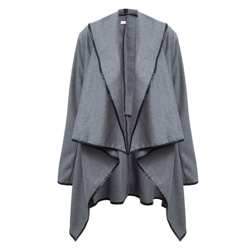 women tops Hot style womens wear new European and American trim, irregular woolen overcoat coat