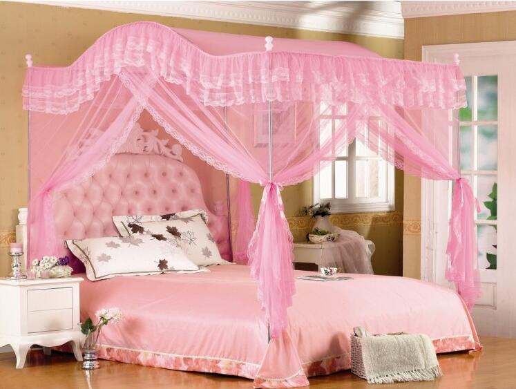 Elegant 4 Corner Post Bed Canopy Mosquito Twin Sizes Netting (No Bracket)