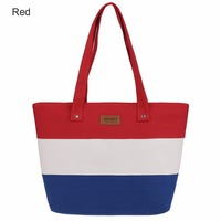 Hot Sale Summer Women Canvas Bohemian Style Striped Shoulder Beach Bag Female Casual Tote Shopping Big